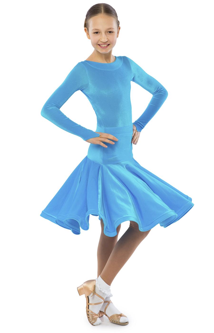 62a0a9e76b23 Sasuel Adele Juvenile Stretch Velvet Dress – Tower Ballroom Dance